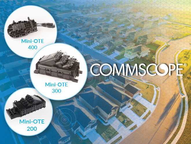 Commscope OTE optical terminal enclosures portfolio