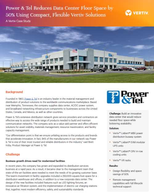 Download the Vertiv Case Study