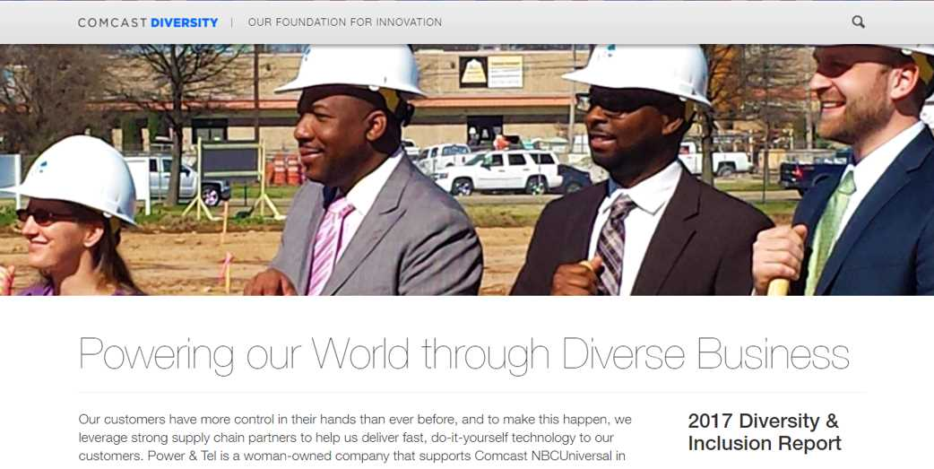 Comcast Diversity & Inclusion Report_Power & Tel